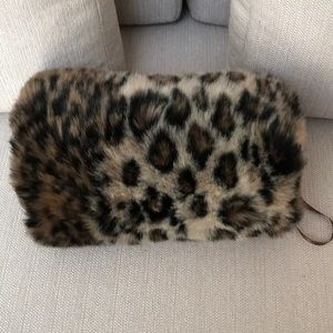 Animal Print Faux Fur Hand Warmer